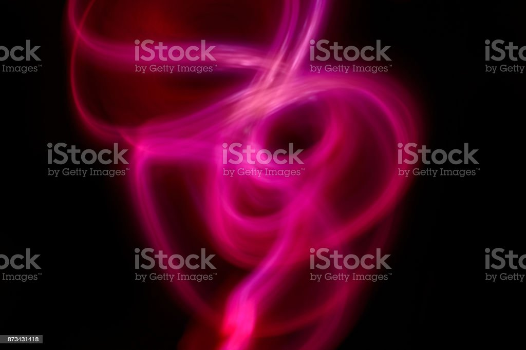 Abstract red light ray on black background stock photo