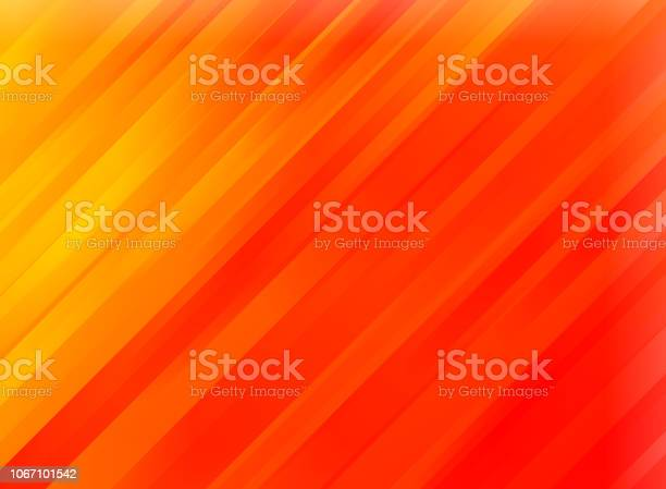 Photo of Abstract red motion diagonal stripes background.