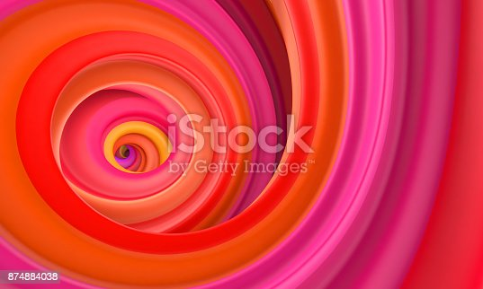 istock Abstract red orange circle swirl background 874884038