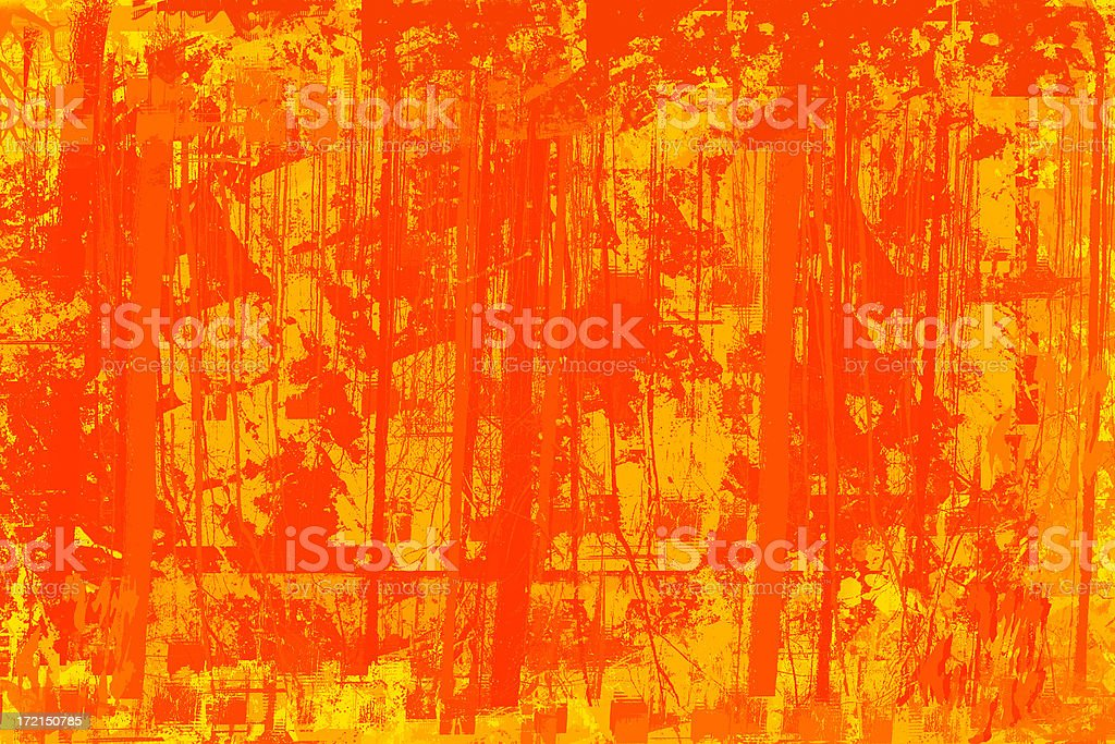 Abstract - Red Orange Grunge Background or Mask stock photo
