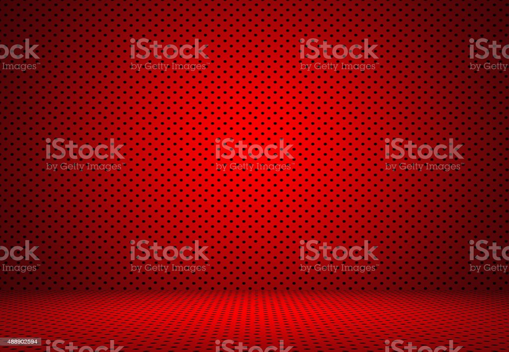 Abstract Red Polka dots background Christmas Valentines layout d stock photo
