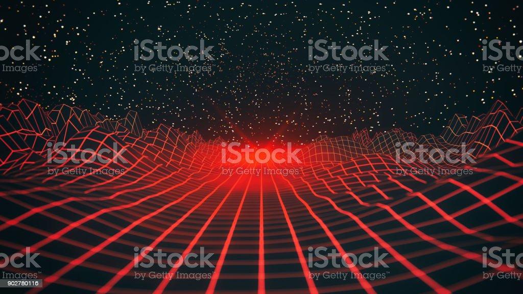 Abstrakt rot Retro-Hintergrund – Foto