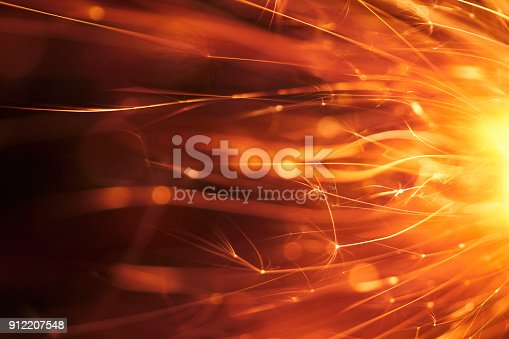 istock Abstract Red Sparks - Background Party New Year Celebration Technology 912207548