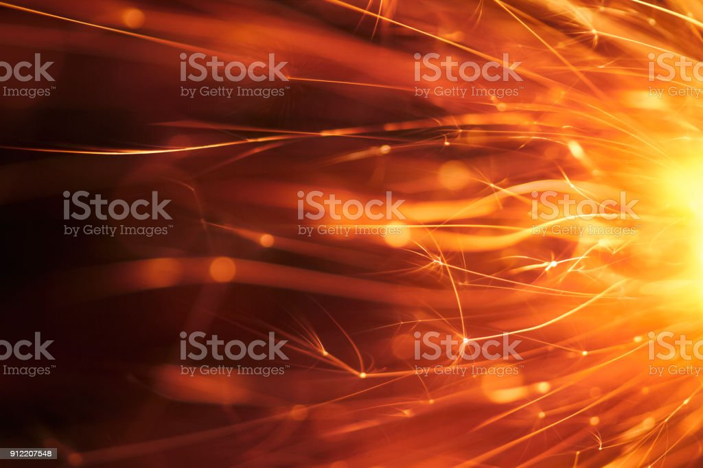 Abstract Red Sparks - Background Party New Year Celebration Technology stock photo
