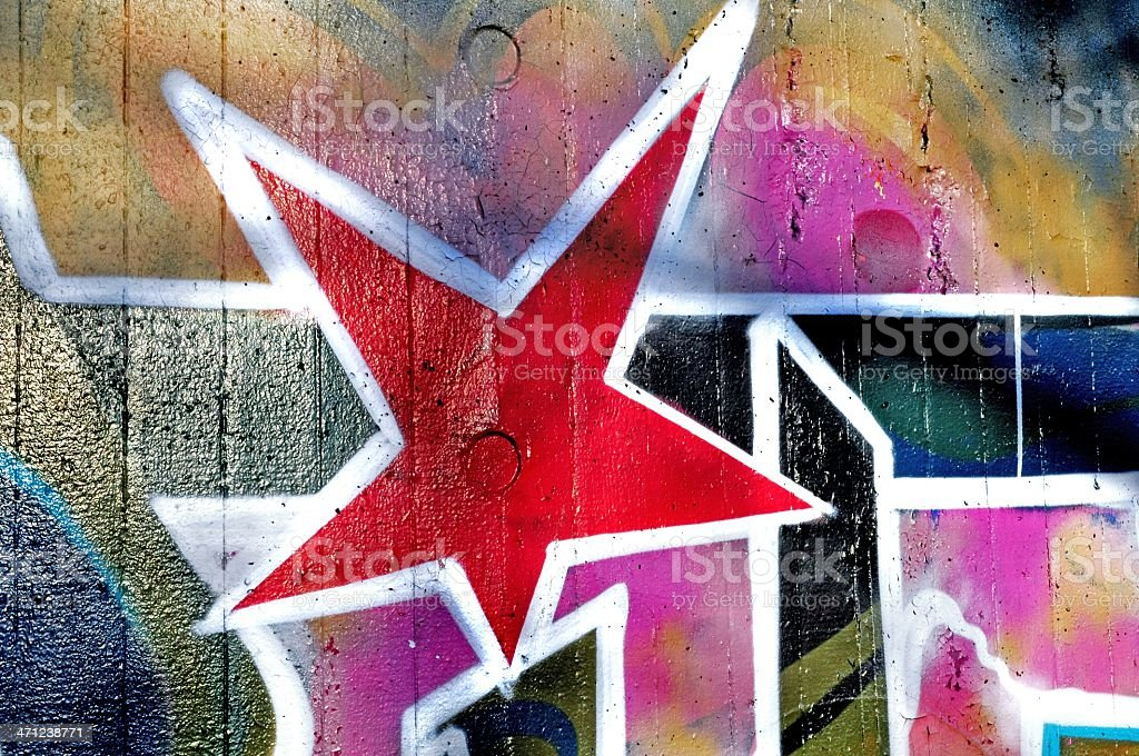 Abstract red star royalty-free stock photo