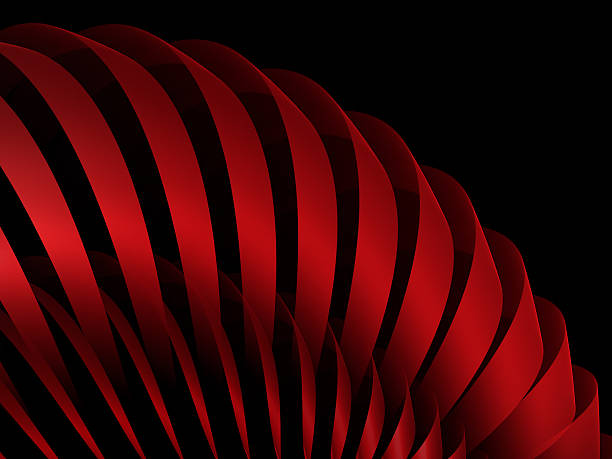 abstract red stripes isolated on black stock photo