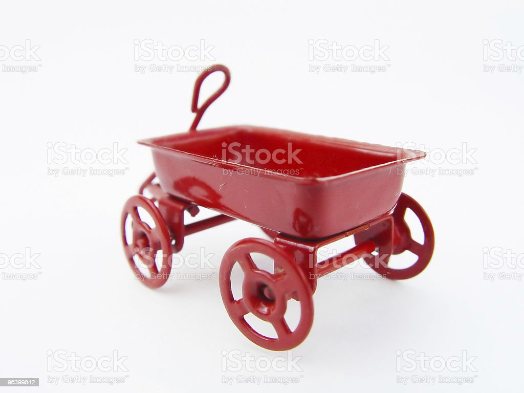 Abstract Red Wagon royalty-free stock photo