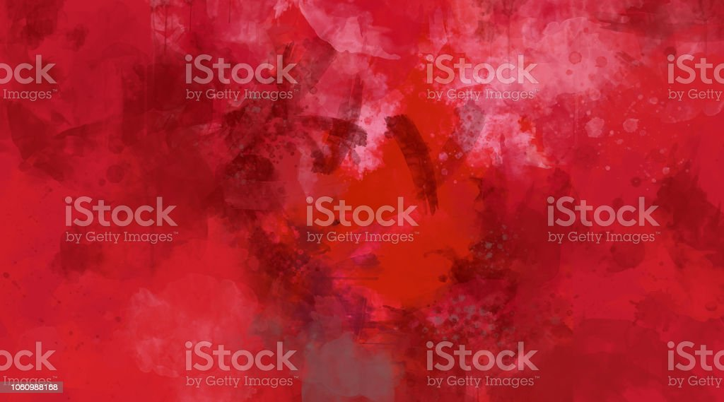 Abstract red watercolor background. Bright multi colored spots. stock photo