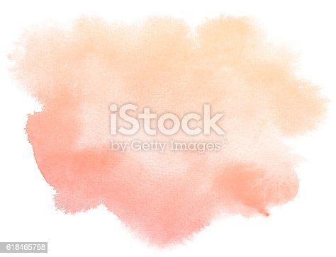 istock Abstract red watercolor background. 618465758