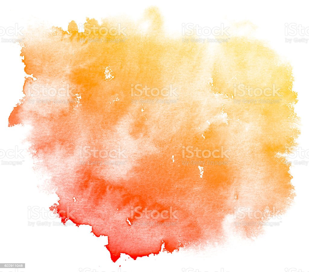 Abstract red watercolor background. stock photo