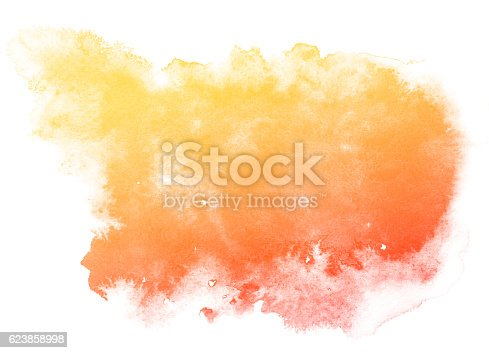 istock Abstract red watercolor background. 623858998