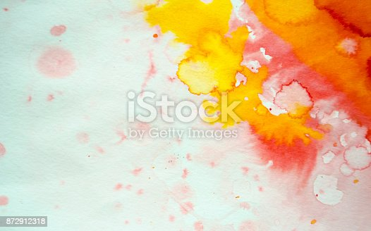 istock Abstract red watercolor background 872912318