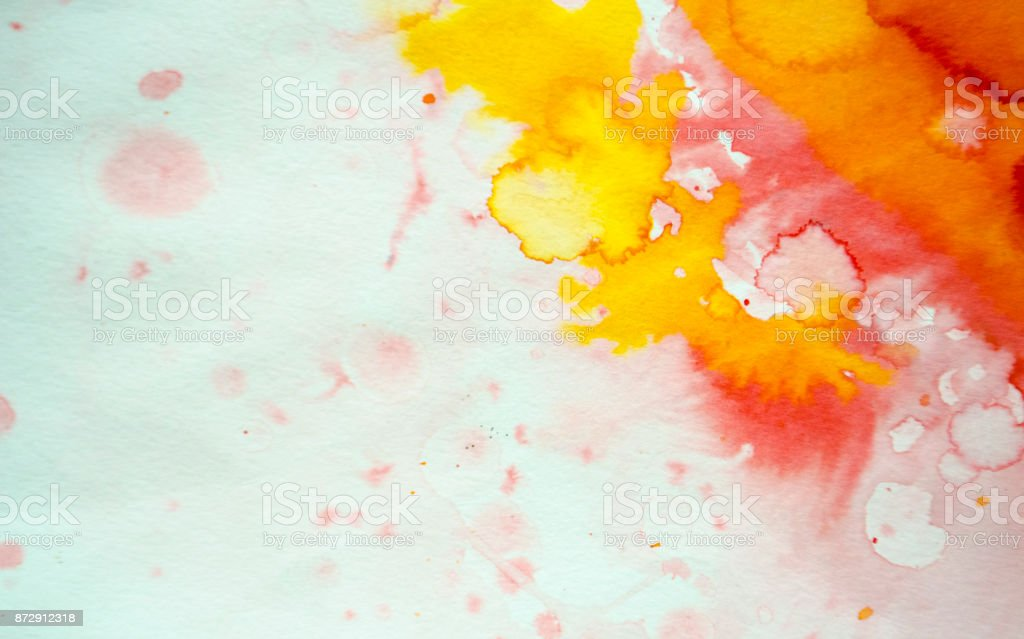Abstract red watercolor background stock photo