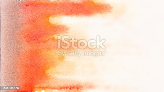istock Abstract red watercolor background 995794870