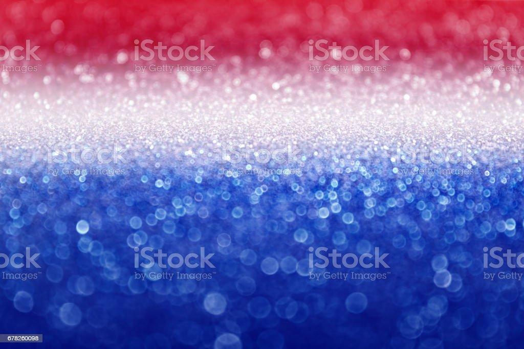 Abstrato vermelho, branco e azul brilham Sparkle fundo - foto de acervo
