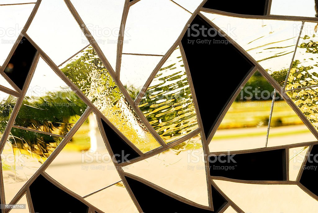 abstract reflection royalty-free stock photo