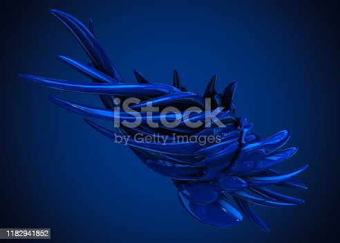 926309124 istock photo Abstract Rendering of Chaotic Structure 1182941852
