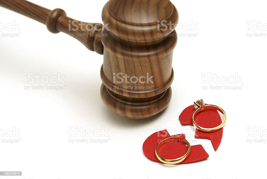Abstract representation of Divorce royalty-free stock photo