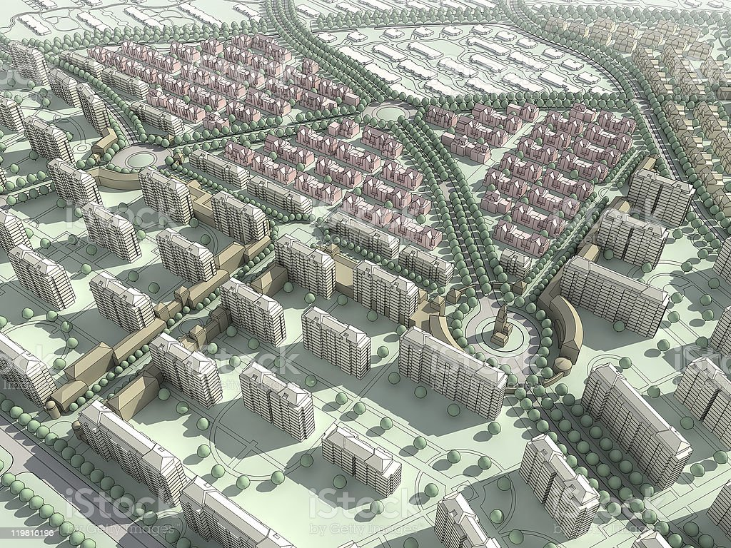 abstract residential community stock photo