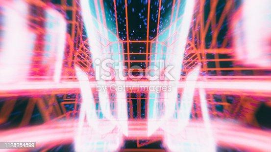 1046643326 istock photo Abstract retro SciFi background 1128254599