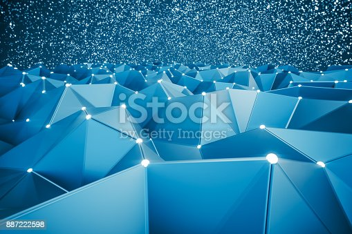 istock Abstract Retrofuturistic Background 887222598