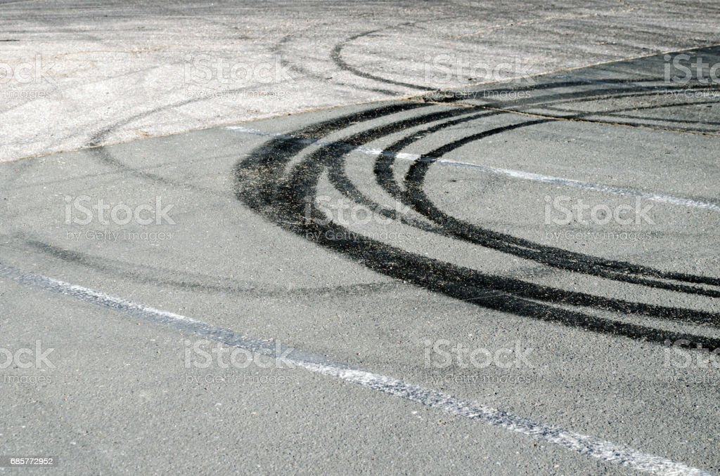 Abstract road background with tracks of tires. royalty-free stock photo