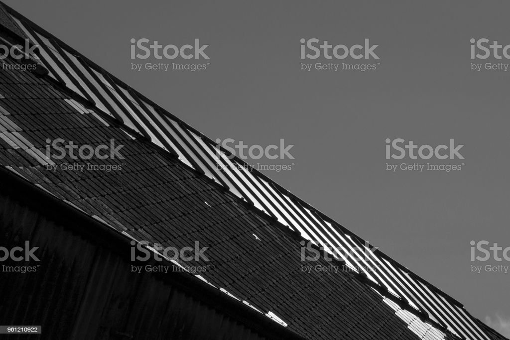 Abstract Rooftop stock photo