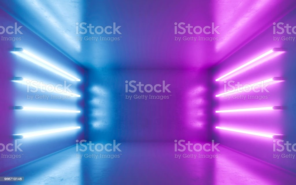 Abstract room interior stock photo