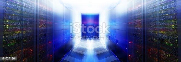 istock abstract room with rows of server hardware in data center 545271664