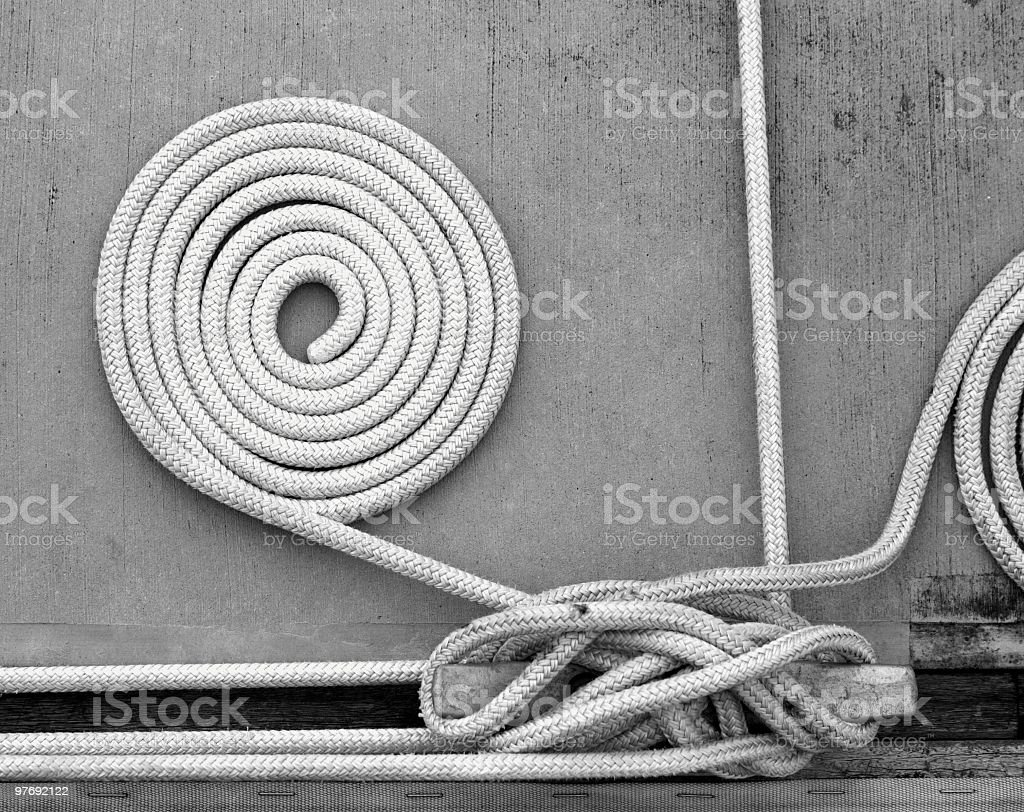 Abstract rope on dock stock photo