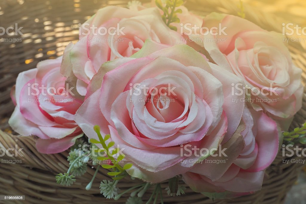Abstract rose flower on sunshine stock photo