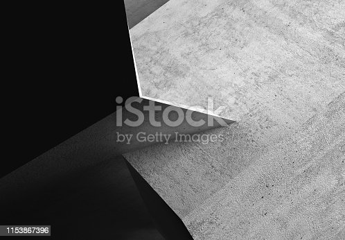 istock Abstract rough dark concrete 3d art 1153867396
