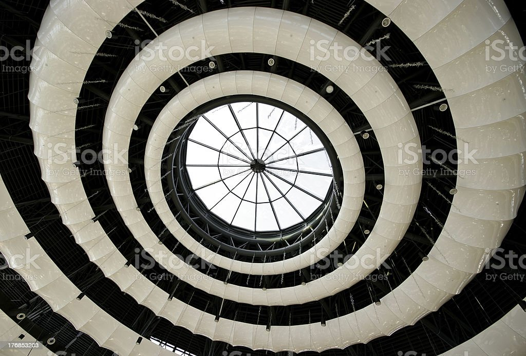 Abstract round ceiling royalty-free stock photo