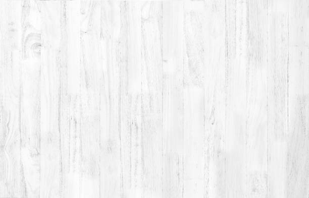 Abstract rustic surface white wood table texture background. Close up of rustic wall made of white wood table planks texture. Rustic white wood table texture background empty template for your design. - foto stock