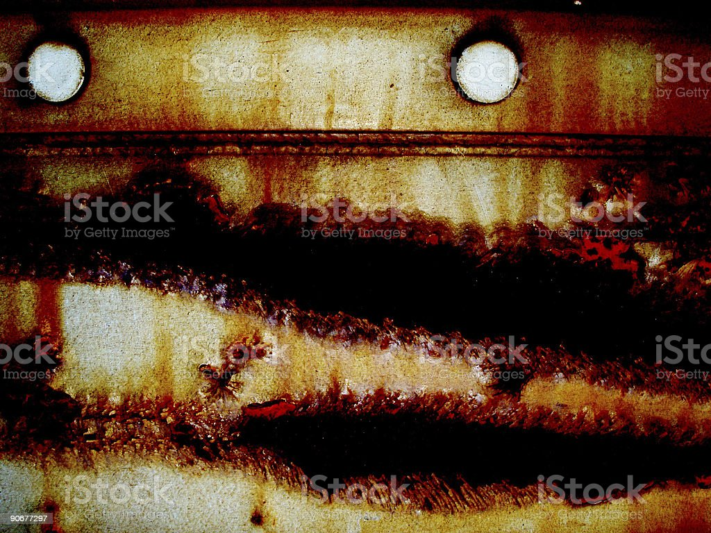 Abstract - Rusty Crevices stock photo