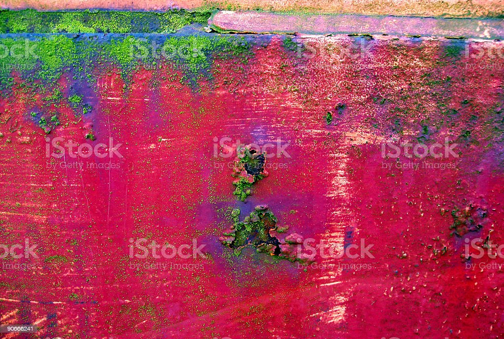 Abstract - Rusty Grunge Rainbow stock photo