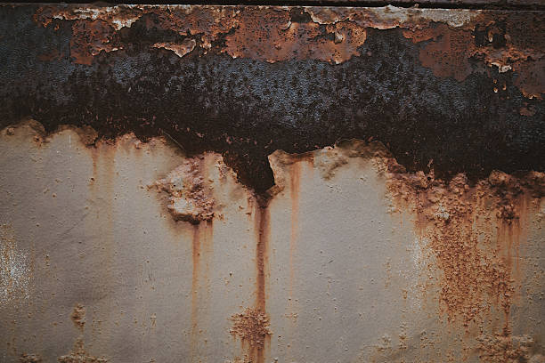 Abstract Rusty Metal Grunge Background stock photo