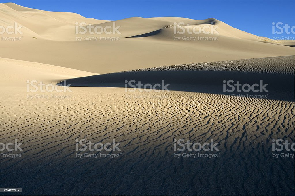 Abstract Sandscape - Shadows royalty-free stock photo