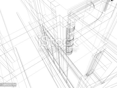 istock abstract scetch architectural construction 134121714