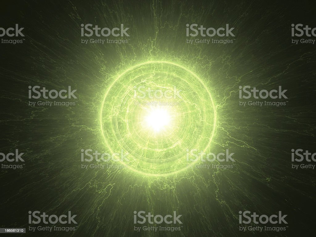 Abstract science background - radioactive core stock photo