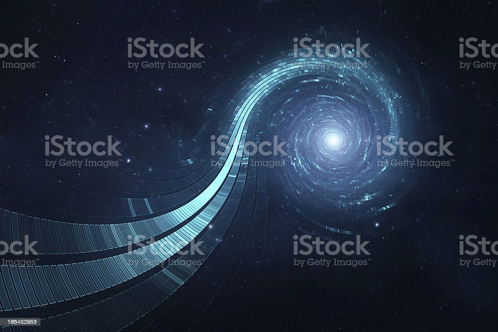 3D abstract science fiction futuristic background stock photo