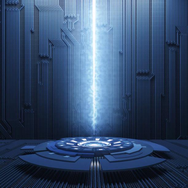 abstrakte science-fiction-futuristischen hintergrund - flächeninhalt stock-fotos und bilder