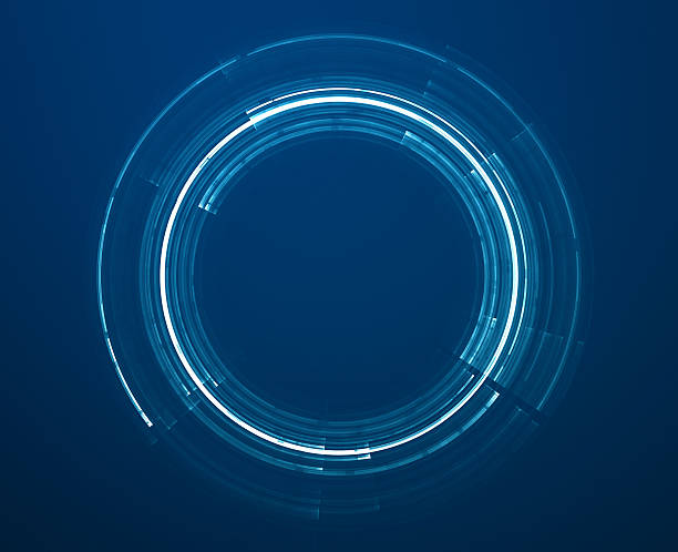 abstract science fiction futuristic background with circles - teleport bildbanksfoton och bilder