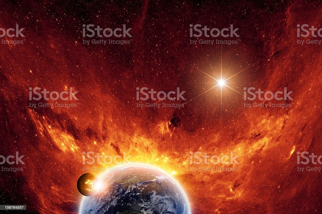 Abstract scientific background royalty-free stock photo