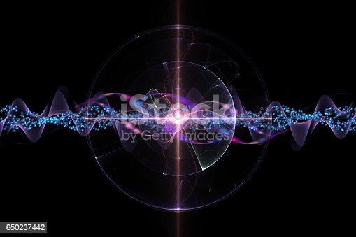 molecular cosmos, abstract scientific background