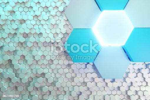 532107582istockphoto Abstract Sci-fi Hexagonal Background 862589298