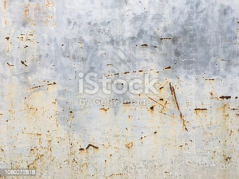 Abstract scratched rusty metal texture background