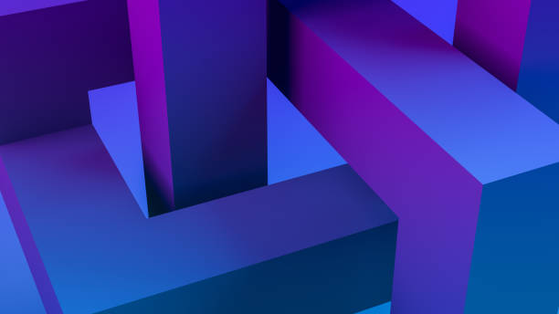 3d abstrakte skulpturale geometrische formen hintergrund - skulpturprojekte stock-fotos und bilder