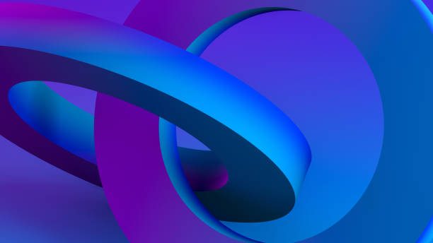3D Abstract Sculptural Geometric Shapes Background stock photo