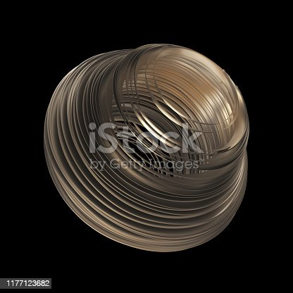 175960311 istock photo Abstract Sculpture On Black Background 1177123682